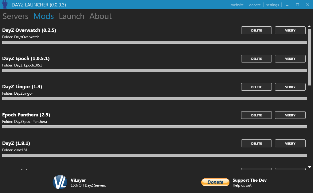 DayZ Launcher | Easy to use launcher for ARMA 2 OA 1.63 ...  DayZ Launcher |...